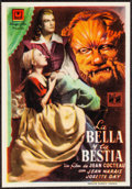 """Movie Posters:Fantasy, La Belle et la Bete & Other Lot (Ulargui Films, 1950). Overall: Very Fine. Spanish Herald (3.5"""" X 5"""") & British Trade Ad (8.... (Total: 2 Items)"""