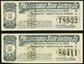 Obsoletes By State:Louisiana, New Orleans, LA- Louisiana State Lottery Co. Class B 1/20 Share Ticket Feb. 11, 1890, Two Examples Very Fine or Better.... (Total: 2 notes)