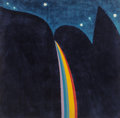 Works on Paper, Carol Summers (American, b. 1925). Rainbow Falls at Night. Mixed media on paper. 36 x 36-1/2 inches (91.4 x 92.7 cm) (sh...