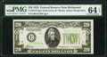 Small Size:Federal Reserve Notes, Fr. 2054-E* $20 1934 Dark Green Seal Federal Reserve Star Note. PMG Choice Uncirculated 64 EPQ.. ...