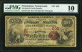 Philadelphia, PA - $10 1875 Fr. 416 The Bank of North America Ch. # 602 PMG Very Good 10