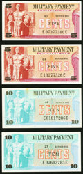 Military Payment Certificates:Series 692, Series 692 5¢ (2); 10¢ (2) Choice New or Better. . ... (Total: 4 notes)