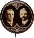 """Political:Pinback Buttons (1896-present), Wilson & Marshall: Bold 1 3/4"""" Real Photo Jugate by Steiner...."""