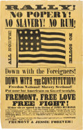 Political:Posters & Broadsides (pre-1896), James Buchanan: Outrageous Satiric Broadside. ...