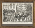 Political:Posters & Broadsides (pre-1896), Abraham Lincoln: Currier & Ives Print Of New York City Funeral....