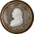 Political:3D & Other Display (pre-1896), George Washington: Large Sulphide Snuff Box....