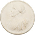 Political:3D & Other Display (pre-1896), Woman's Suffrage: Plaster Plaque of Susan B. Anthony. ...
