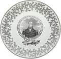 "Political:3D & Other Display (pre-1896), William Henry Harrison: ""Chickweed Pattern"" Portrait Plate...."