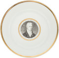 Political:3D & Other Display (pre-1896), James Monroe: Vieux Paris Porcelain Portrait Plate....
