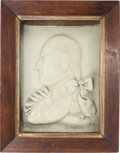 Political:3D & Other Display (pre-1896), George Washington: 1797-Dated Wax Portrait....