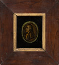 """Political:3D & Other Display (pre-1896), George Washington: Early """"Mezzotint-Style"""" Portrait...."""