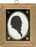 Political:3D & Other Display (pre-1896), John Quincy Adams: Period Silhouette....