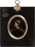 Political:3D & Other Display (1896-present), Zachary Taylor: Reverse-Transfer on Glass Wall Plaque....