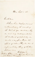 Political:Tokens & Medals, Horatio Seymour: 1868 ALS Acknowledging Gift of Campaign Medals....
