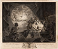 Military & Patriotic:Revolutionary War, Revolutionary War: Allegorical Engraving Related to the Boston Tea Party and Its Aftermath. ...