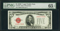 Fr. 1528 $5 1928C Legal Tender Note. PMG Gem Uncirculated 65 EPQ