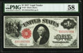 Large Size:Legal Tender Notes, Fr. 37 $1 1917 Legal Tender PMG Choice About Unc 58.. ...