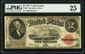 Large Size:Legal Tender Notes, Fr. 60* $2 1917 Legal Tender Star PMG Very Fine 25.. ...