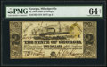 Obsoletes By State:Georgia, Milledgeville, GA- State of Georgia $2 Jan. 1, 1864 Cr. 29 PMG Choice Uncirculated 64 Net.. ...