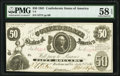 T8 $50 1861 PF-4 Cr. 18 PMG Choice About Unc 58 EPQ