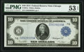 Large Size:Federal Reserve Notes, Fr. 931a $10 1914 Federal Reserve Note PMG About Uncirculated 53 EPQ.. ...