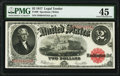 Large Size:Legal Tender Notes, Fr. 60 $2 1917 Legal Tender PMG Choice Extremely Fine 45.. ...