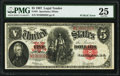 "Large Size:Legal Tender Notes, Fr. 91 $5 1907 ""PCBLIC"" Error Legal Tender PMG Very Fine 25.. ..."