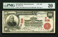 National Bank Notes:Massachusetts, Springfield, MA - $10 1902 Red Seal Fr. 613 The Third National Bank Ch. # (N)308 PMG Very Fine 20.. ...