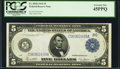 Large Size:Federal Reserve Notes, Fr. 855b $5 1914 Federal Reserve Note PCGS Extremely Fine 45PPQ.. ...
