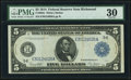 Large Size:Federal Reserve Notes, Fr. 863a $5 1914 Federal Reserve Note PMG Very Fine 30.. ...