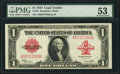 Large Size:Legal Tender Notes, Fr. 40 $1 1923 Legal Tender PMG About Uncirculated 53.. ...