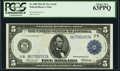 Fr. 848 $5 1914 Federal Reserve Note PCGS Choice New 63PPQ