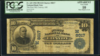 Convoy, OH - $10 1902 Plain Back Fr. 625 The First National Bank Ch. # (M)8017 PCGS Apparent Very Good 10