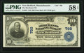 National Bank Notes:Massachusetts, New Bedford, MA - $10 1902 Plain Back Fr. 624 The Merchants National Bank Ch. # 799 PMG Choice About Unc 58 EPQ.. ...