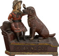 "Antiques:Toys, Cast Iron ""Speaking Dog"" Mechanical Bank...."