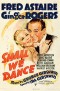 Movie Posters:Musical, Shall We Dance (RKO, 1937). Fine on Linen. Trimmed...