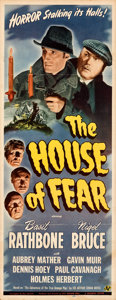 Movie Posters:Mystery, The House of Fear (Universal, 1945). Folded, Fine....