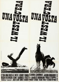 "Movie Posters:Western, Once Upon a Time in the West (Euro International, 1968). Folded, Very Fine-. Italian 2 - Fogli (39.25"" X 55"") & Itali..."