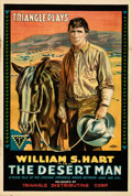 Movie Posters:Western, The Desert Man (Triangle, 1917). Folded, Very Fine-.