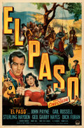 "Movie Posters:Western, El Paso (Paramount, 1949). Folded, Fine/Very Fine. One Sheet (27"" X 41"").. ..."