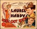 "Movie Posters:Comedy, Way Out West (MGM, 1937). Fine/Very Fine. Title Lobby Card (11"" X 14"").. ..."
