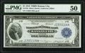 Large Size:Federal Reserve Bank Notes, Fr. 738 $1 1918 Federal Reserve Bank Note PMG About Uncirculated 50.. ...