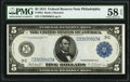 Fr. 854 $5 1914 Federal Reserve Note PMG Choice About Unc 58 EPQ