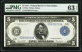 Fr. 887a $5 1914 Federal Reserve Note PMG Choice Uncirculated 63 EPQ