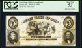 Obsoletes By State:Ohio, Logan, OH- State Bank of Ohio, Logan Branch $5 185_ G810 Proof PCGS About New 53, 4 POCs.. ...