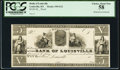 Obsoletes By State:Kentucky, Louisville, KY- Bank of Louisville $5 18__ G12 Proof PCGS Choice About New 58.. ...