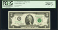 Fr. 1935-D* $2 1976 Federal Reserve Star Note. PCGS Superb Gem New 67PPQ
