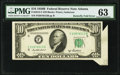 Butterfly Fold Error Fr. 2012-F $10 1950B Federal Reserve Note. PMG Choice Uncirculated 63
