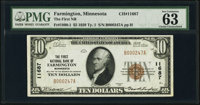 Farmington, MN - $5 1929 Ty. 1 The First National Bank Ch. # 11687 PMG Choice Uncirculated 63.<