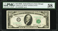 Fr. 2015-G* $10 1950E Federal Reserve Star Note. PMG Choice About Unc 58
